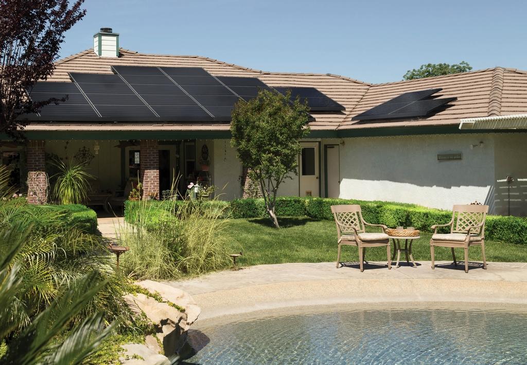 solar panels house roof